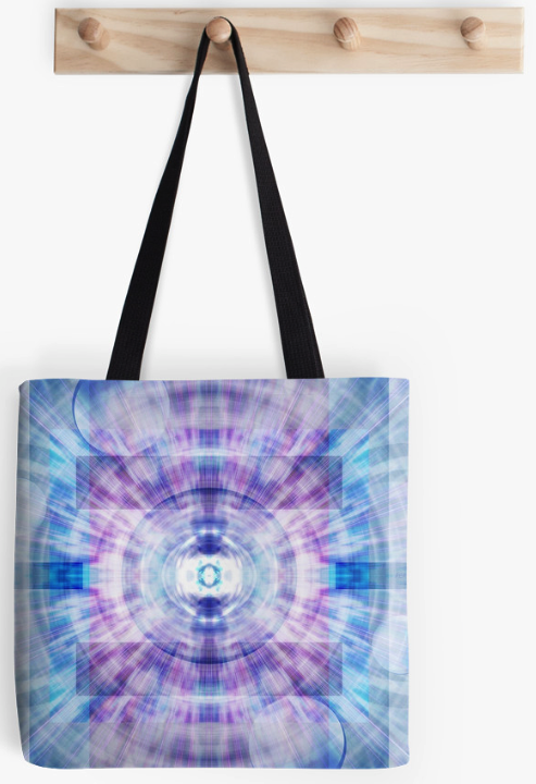 Geometric Digital Burst Tote Bag