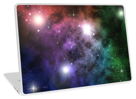 Space Clouds Laptop Skin