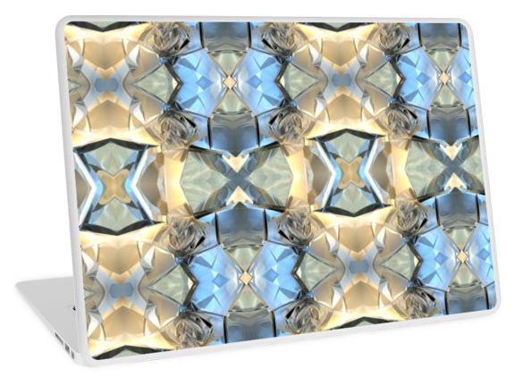 Blue And Beige Pattern Laptop Skin