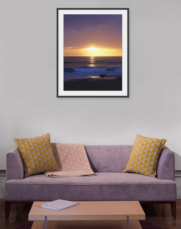 Pacific Ocean Sunset Framed Print