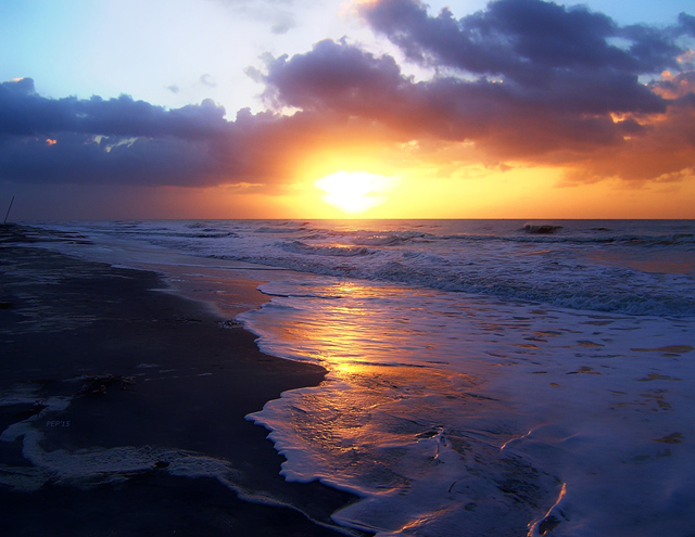 Sunrise Over The Atlantic Ocean