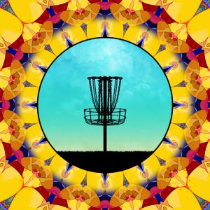 Disc Golf Abstract Basket 4