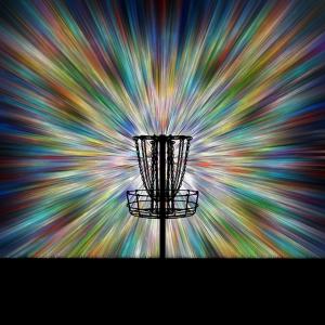 Disc Golf Basket Silhouette