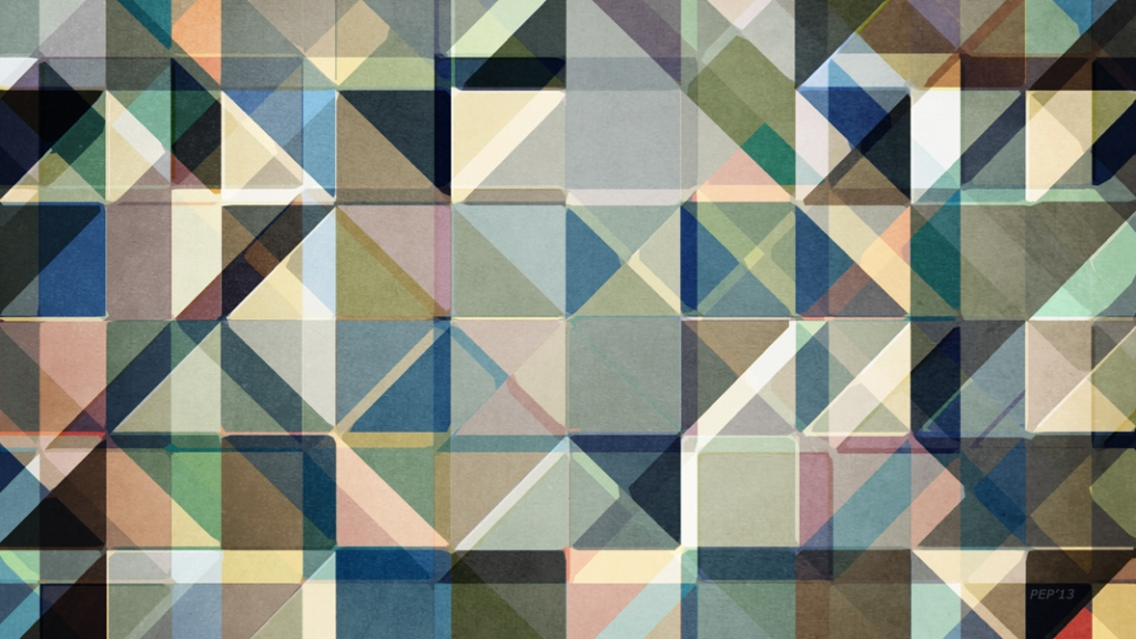 Abstract Earth Tone Grid
