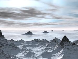 Frozen Arctic Sea
