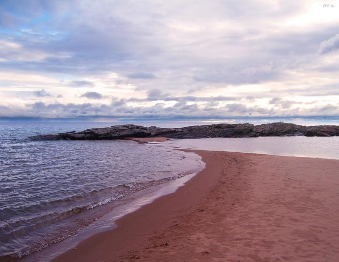 Long Rock In Lake Superior