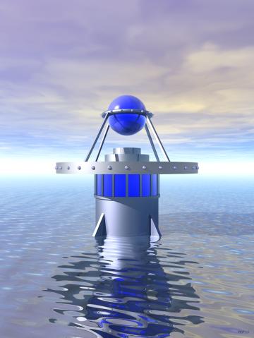 Blue Sci Fi Structure