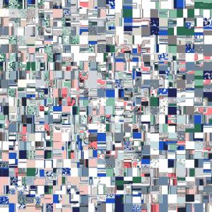 Geometric Grid of Colors