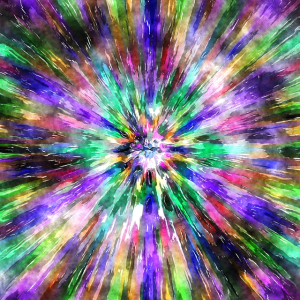 Abstract Spectral Tie Dye