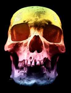 Pop Art Skull Face