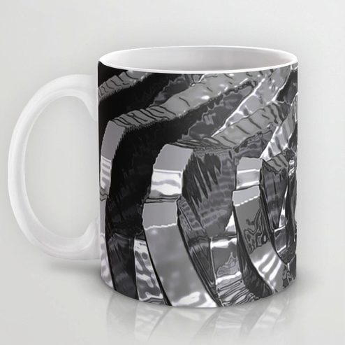 Metallic Ripple Coffee Mug