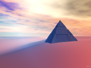 Ancient Pyramid In Desert
