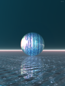 Glowing Blue Sphere
