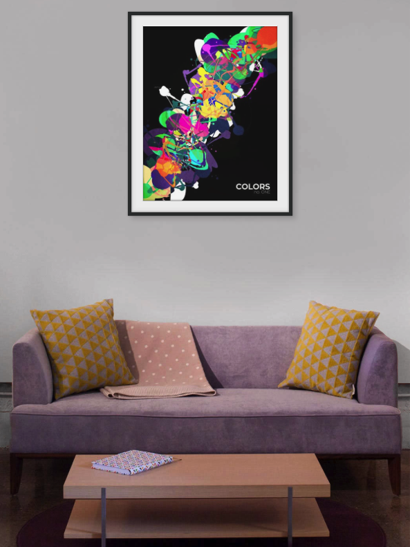 Mixed Media Colors Graphic Print