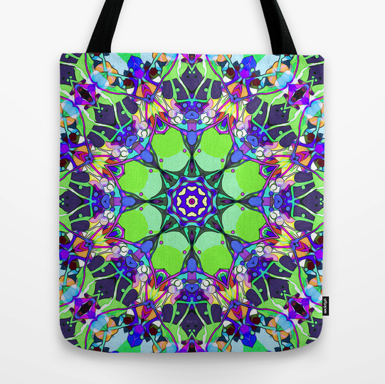 Abstract Vibrant Colors Tote Bag