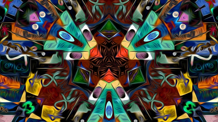 Abstract Design Full of Colors