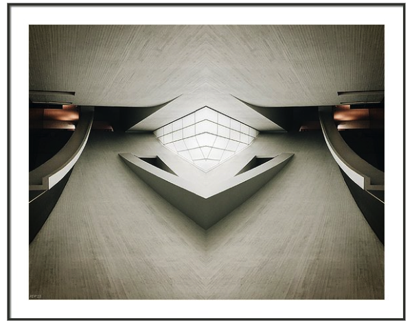 Futuristic Architecture Framed Print