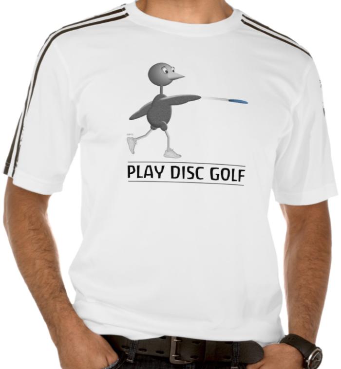 Disc Golfing Bird T-shrt