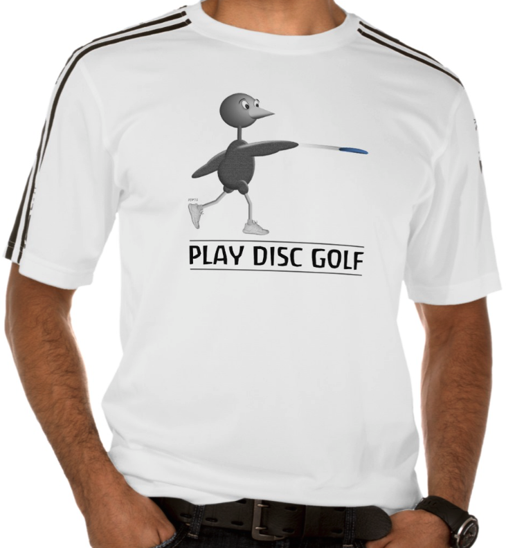 Disc Golfing Bird T-shrt