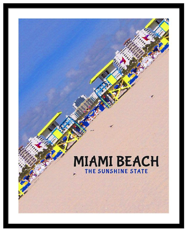 Miami Beach Florida Framed Print