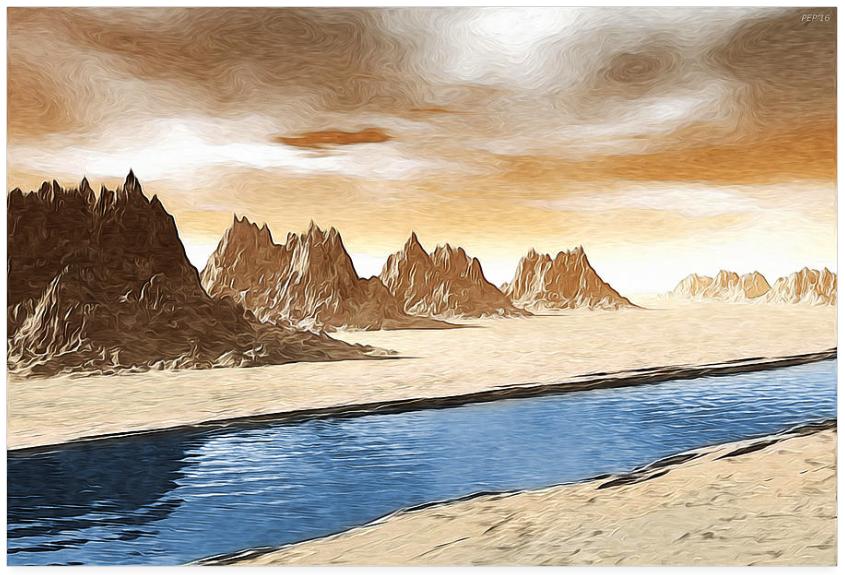 Mountains Along A River