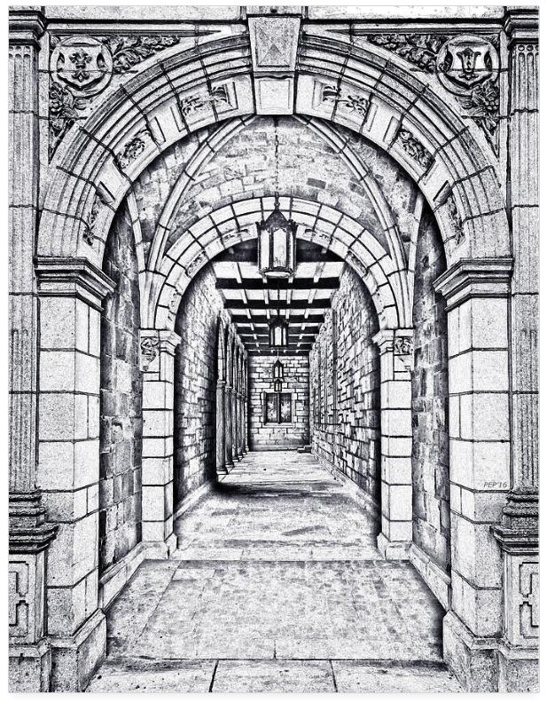 Vintage Archway Passage