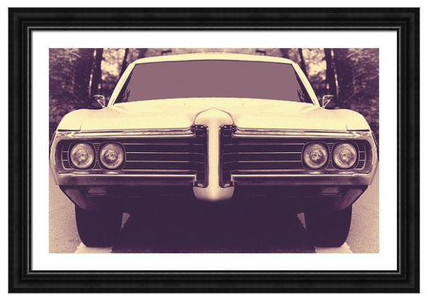 Vintage Summer Wheels Framed Print