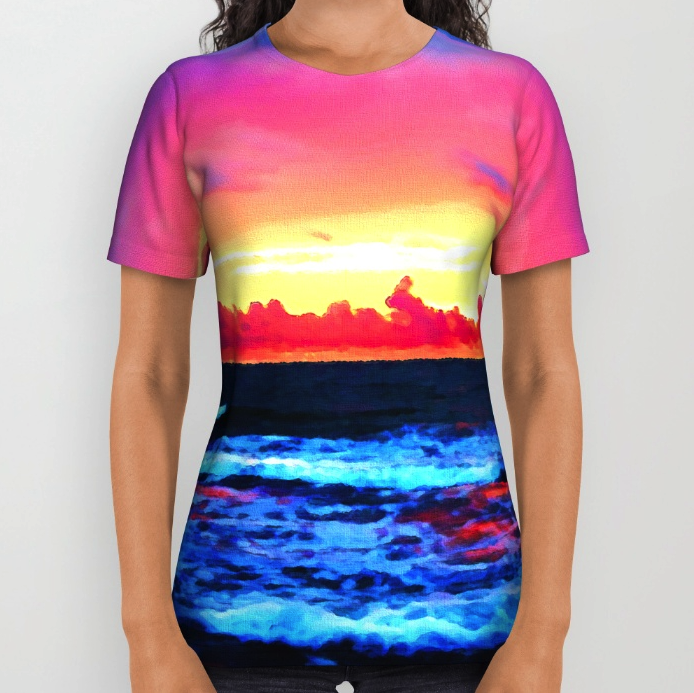 Scenic All Over Printed T-shirt