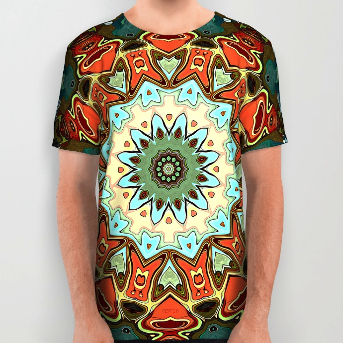 Abstract All Over Printed T-shirt