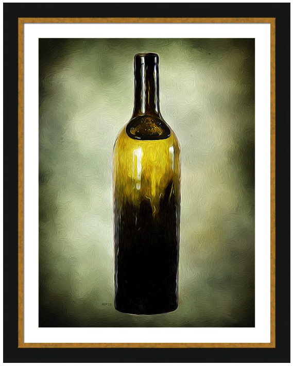 Vintage Wine Bottle Framed Print