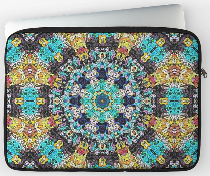 Colorful Concentric Laptop Sleeve