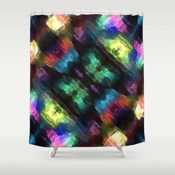 Textural Abstract Shower Curtain