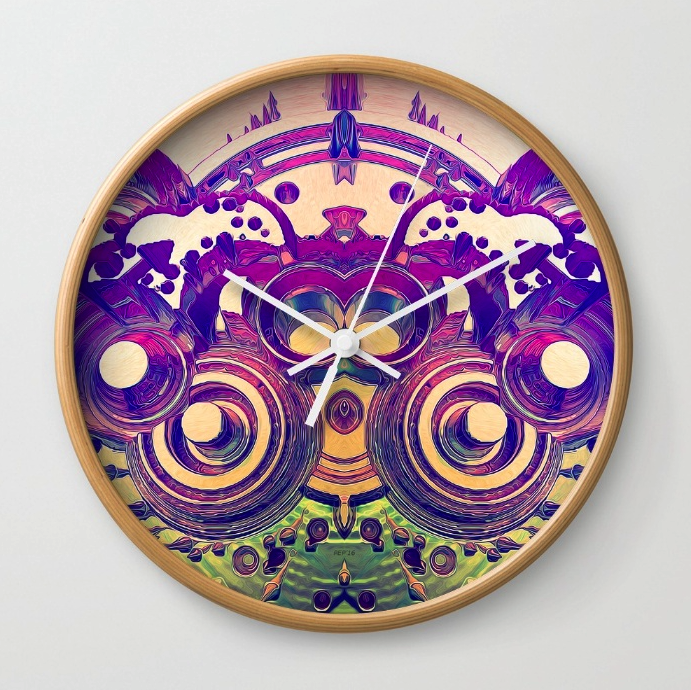 Retro 3D Circles Wall Clock
