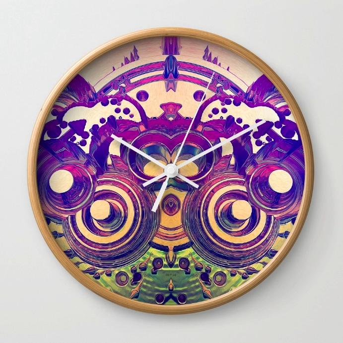 Retro 3D Circles Wall Clock