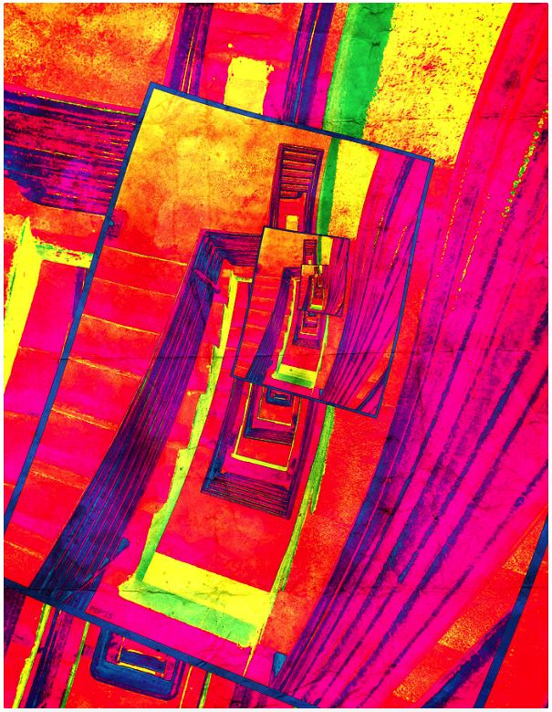 Pop Art Stairwell Abstract