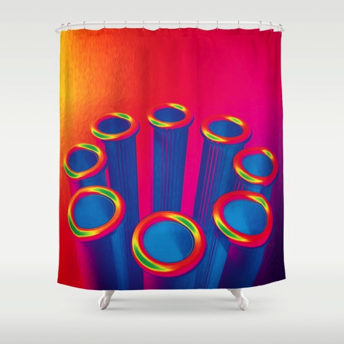 Colorful Pop Art Cylinders
