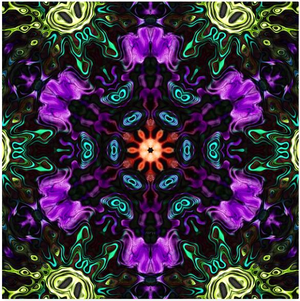 Abstract Textural Mandala