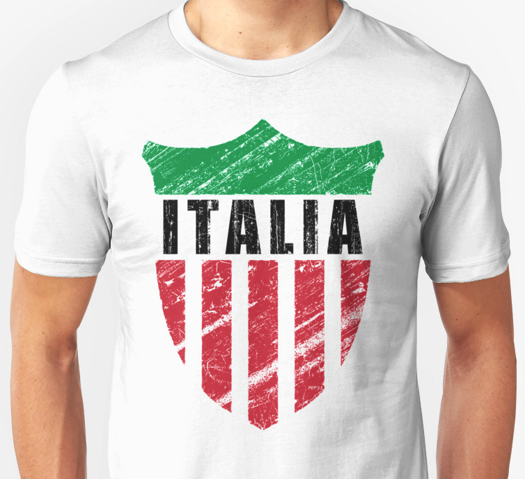 Vintage italy emblem t shirt perkins designs for How to copyright t shirt designs