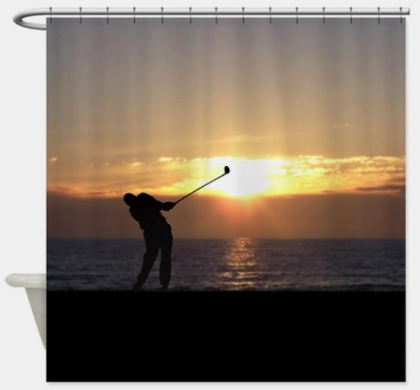 Sunset Golfing Shower Curtain