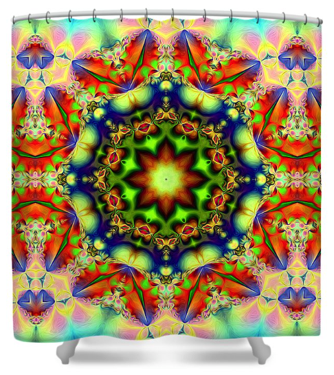 Decorative Spring Shower Curtain