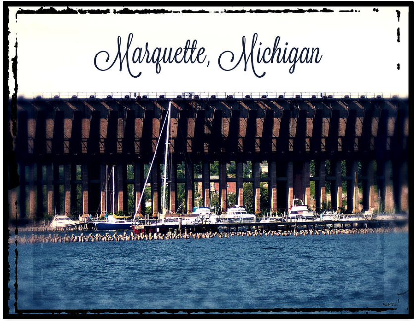 Vintage Marquette, Michigan Harbor