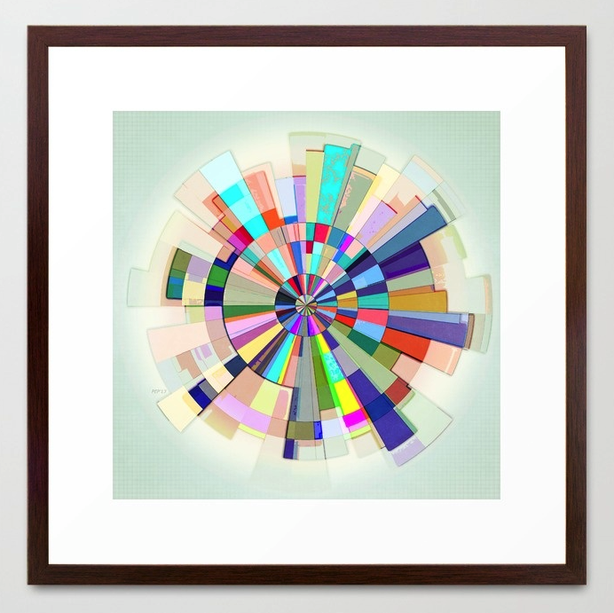 Abstract Color Wheel Framed Print