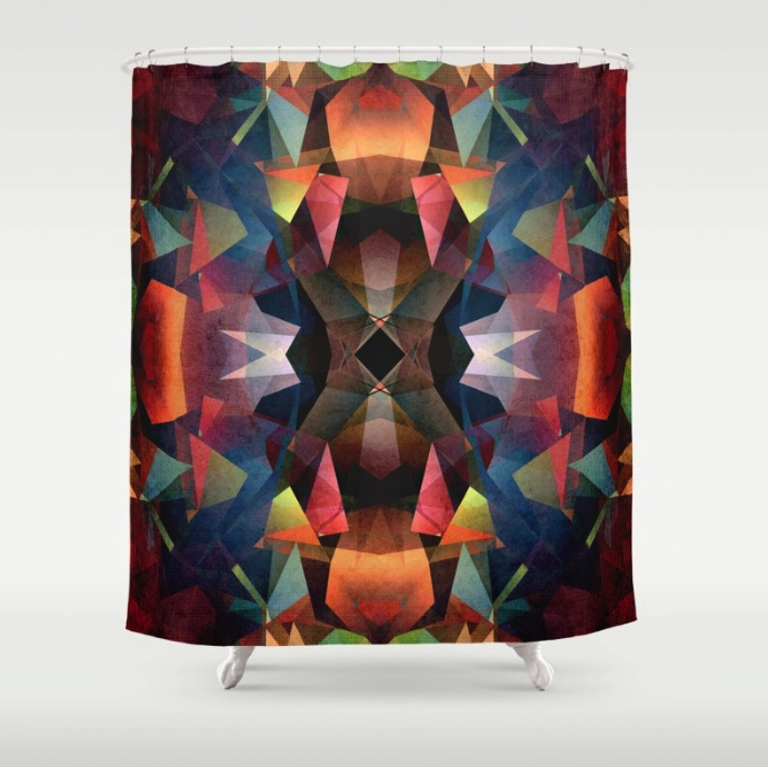 Colorful Vintage Pattern Shower Curtain