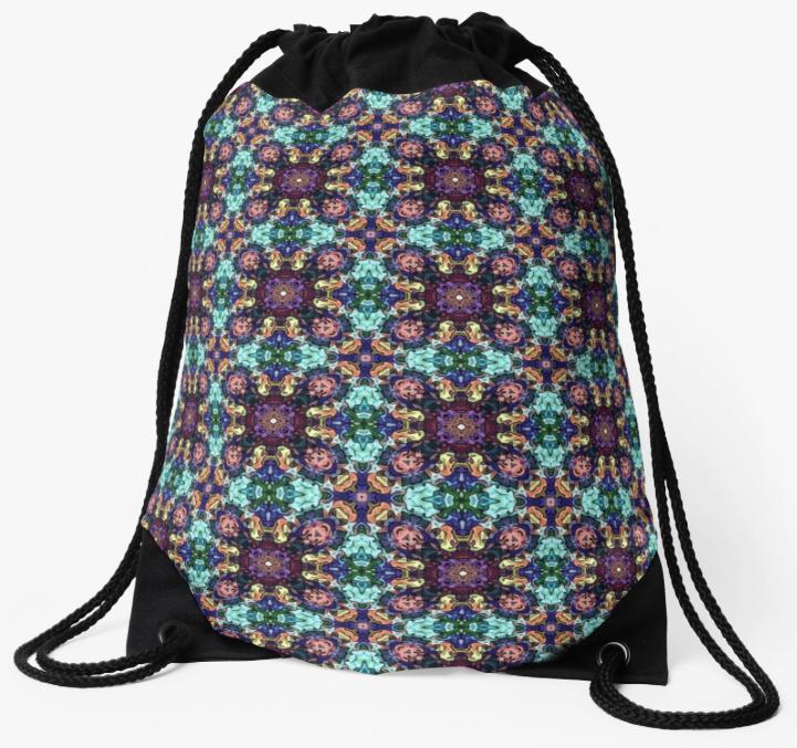 Intricate Pattern Drawstring Bag