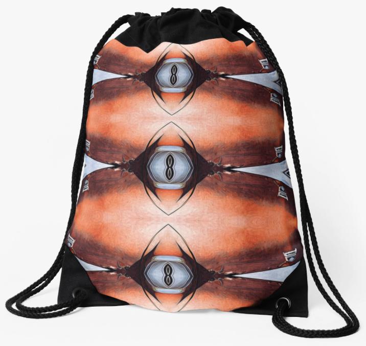 Rusted Metal Abstract Drawstring Bag