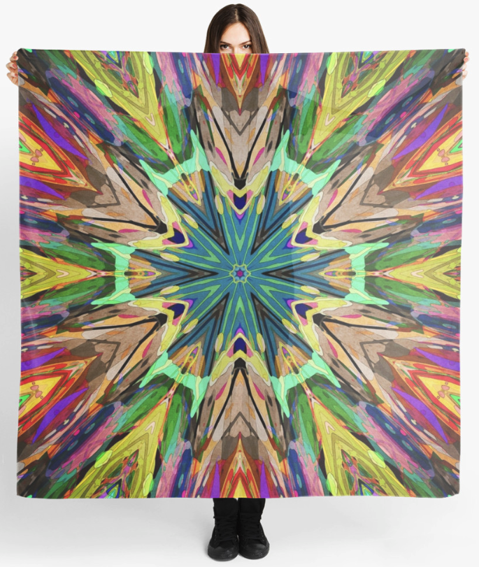 Colorful Textural Abstract Scarf