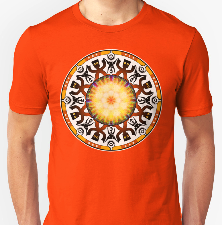 Orange And Gold Tribal T-shirt