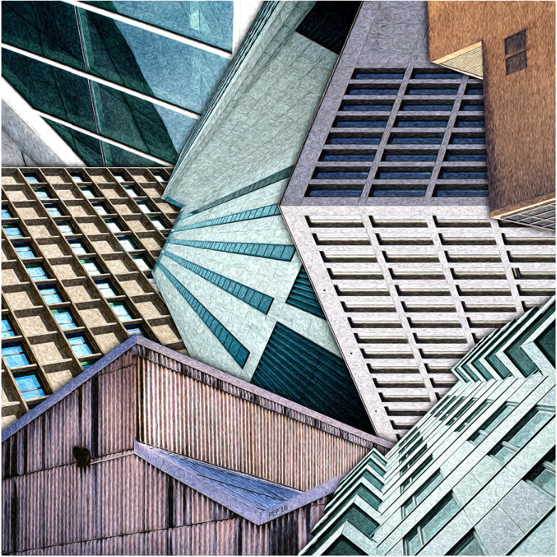 City Buildings Abstract