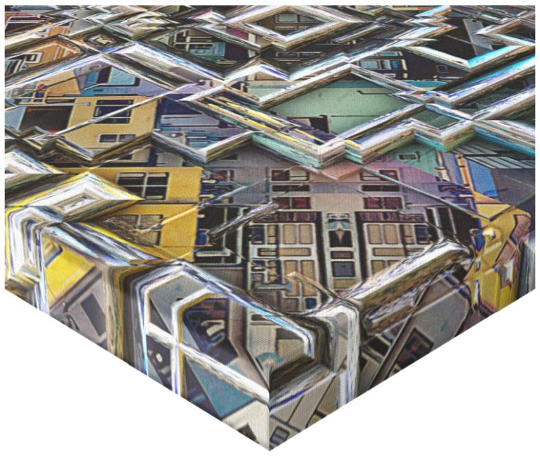 Geometric City Canvas Print
