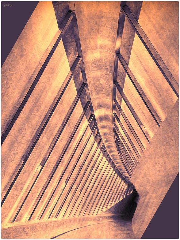 Abstract Architectural Corridor